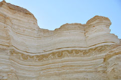 Geology Earthquake Layers, Israel. Chaotic geological layers caused by a historical earthquake in the Yehuda Desert, Israel Royalty Free Stock Photography