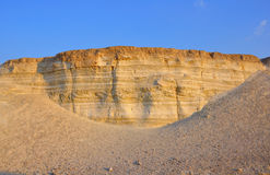 Geology Earthquake Layers, Israel royalty free stock photo