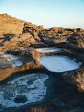 geology Erosie en storting royalty-vrije stock foto's