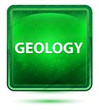 Geology Neon Light Green Square Button royalty free illustration