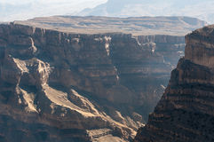 Geology of Jebel Shams, Oman. Grand Canyon of Middle-East, Oman royalty free stock images