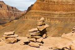 Rocks in grand canyon. Geology, landscape and nature concept - rocks in grand canyon stock photo