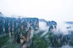Geology and Landscape of Zhangjiajie. A World Natural Heritage in South China, Zhangjiajie is consisted of more than 3,000 quartz sandstone pillars, and many Stock Photo