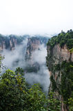 Geology and Landscape of Zhangjiajie. A World Natural Heritage in South China, Zhangjiajie is consisted of more than 3,000 quartz sandstone pillars, and many Stock Photography