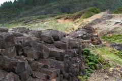 Geology of the Oregon coast royalty free stock photo
