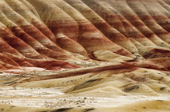The Geology in Painted Hills Oregon State Royalty Free Stock Images