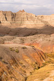 Geology Rock Formations Badlands National Park South Dakota Stock Photography