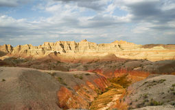 Geology Rock Formations Badlands National Park South Dakota Stock Images