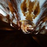 Geology stalactites tunnel. Mixed media Royalty Free Stock Photography