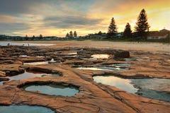 Free Geology Unusual Teal Rockpools At North Avoca Stock Photos - 40802543