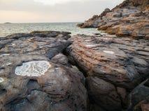 geology Vulkanische rotsen royalty-vrije stock fotografie