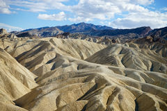 Geology at zabriskie point california. Geological features of zabriskie point in death valley california usa royalty free stock photo