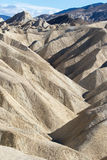 Geology at zabriskie point death valley Royalty Free Stock Photos