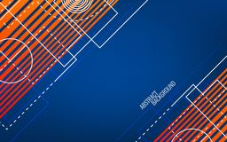 Geométrico abstracto Formas y líneas blancas al azar Concepto azul y anaranjado Contexto brillante moderno trendy libre illustration