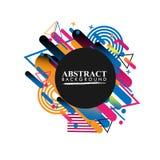 Geométrico abstracto Imagen colorida Abstracción moderna del estilo con la composición hecha de diversas formas redondeadas en co imagen de archivo