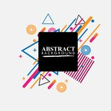 Geométrico abstracto Imagen colorida Abstracción moderna del estilo con la composición hecha de diversas formas redondeadas en co fotografía de archivo
