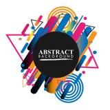 Geométrico abstracto Imagen colorida Abstracción moderna del estilo con la composición hecha de diversas formas redondeadas en co imagenes de archivo