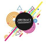 Geométrico abstracto Imagen colorida Abstracción moderna del estilo con la composición hecha de diversas formas redondeadas en co fotos de archivo