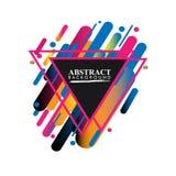 Geométrico abstracto Imagen colorida Abstracción moderna del estilo con la composición hecha de diversas formas redondeadas en co imágenes de archivo libres de regalías