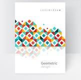 Geométrico abstracto Plantilla de la cubierta Fotografía de archivo