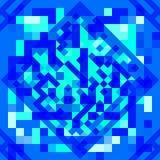 Geométrico abstrato Formas geométricas em cores azuis brilhantes Teste padrão geométrico do estilo futurista Fotografia de Stock Royalty Free