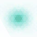 Geométrico abstrato Formas geométricas na cor verde, azul, cinzenta Imagem de Stock
