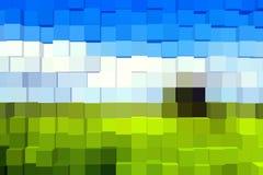 Geométrico abstrato - geometria de cubos abstratos Imagens de Stock