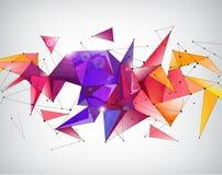 Geométrico lapidado 3d abstrato do cristal do vetor Fotos de Stock Royalty Free