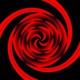 Geométrico rojo del vértigo Foto de archivo libre de regalías