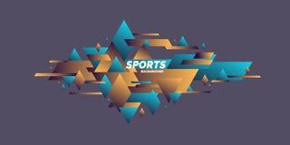 Geom?trico abstracto Cartel de los deportes con las figuras geométricas ilustración del vector