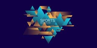 Geom?trico abstracto Cartel de los deportes con las figuras geom?tricas libre illustration