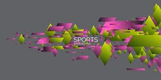 Geom?trico abstracto Cartel de los deportes con las figuras geom?tricas ilustración del vector