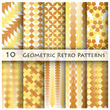 10 Geomatric Retro- Muster-Grafik Stockbild