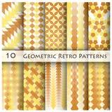 10 Geomatric Retro Pattern Graphic. Design Template Stock Image