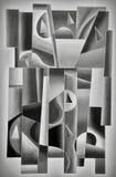 Geomertric Digital Art Grey. Geomertric Digital Art in Grey by Afonso Farias and Denilson Bedin royalty free illustration