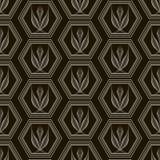 Διανυσματική άνευ ραφής μονοχρωματική διακόσμηση σχεδίων με το τυποποιημένο geomet Στοκ Εικόνα