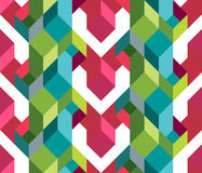Geometic flap pattern Stock Images