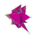 Geometría baja del polígono Imágenes de archivo libres de regalías