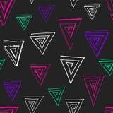 Geometría colorida del Grunge stock de ilustración