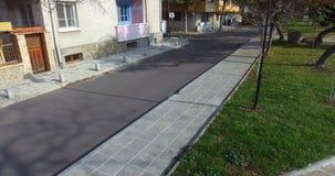 Geometría peatonal en el Pomorie viejo en Bulgaria metrajes