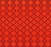 Geometría roja de los diamantes del fondo inconsútil Fotografía de archivo
