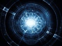 Geometría sagrada virtual stock de ilustración