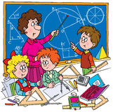 Geometri stock illustrationer
