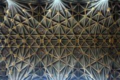 Geometri för arkitektur för Gloucester domkyrkatak Arkivbild