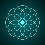 geometria święta Symbol harmonia Obrazy Royalty Free