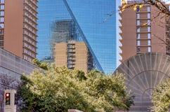 Geometria abstrata da skyline de Dallas fotos de stock royalty free