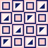 A geometria abstrata nos azuis marinhos e cora rosa Imagens de Stock