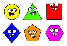 A geometria dá forma ao clipart Imagens de Stock Royalty Free