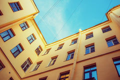 Geometria da cidade A vista geométrica inferior do ya da cidade Imagens de Stock Royalty Free