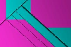 A geometria da cor do fundo Fotografia de Stock